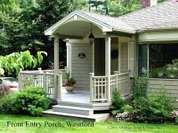 interior good ideas for front porch deck decoration using white