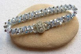 beaded bracelet patterns images Easy swarovski crystal bead bracelet tutorial jpg