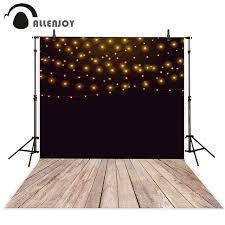 wedding backdrop board allenjoy photography backdrops black background golden bulbs
