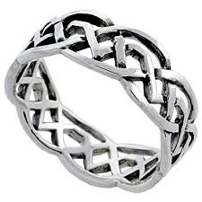 celtic knot ring sterling silver celtic knot ring wedding band thumb