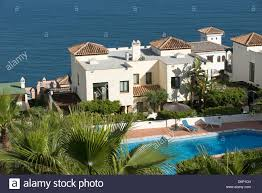 spanish villas overlook the mediterranean sea at la herradura