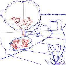 easy garden drawing pictures how to draw easy cartoon flowers how