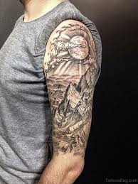 35 spectacular half sleeves shoulder tattoos