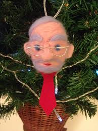 jeremy corbyn needle felted christmas bauble made by tanya