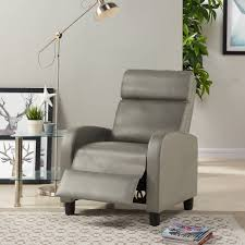 mainstays pushback faux leather recliner multiple colors