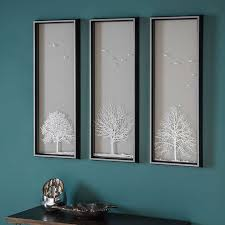 autumn tree set of 3 framed wall prints dunelm lounge