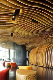 curved wood wall 49 best acoustics images on arquitetura ceilings and wood
