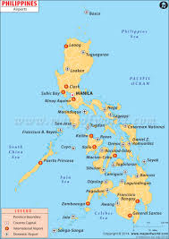 Philippine Map Airports In Philippines Philippines Airports Map