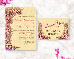 henna invitation bohemian wedding invitation wedding invite