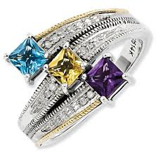 about mothers rings images Sterling silver 14k three stone antiqued mother 39 s ring pg81329 jpg