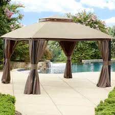 outdoor patio tents sears pergola metal roof gazebo