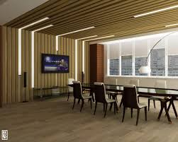 elegant office conference room design with wooden floor and