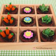 Cute Easter Cupcake Decorations by Mini Brownie Garden Recipe Tutorial With Mini Vegetables Made From