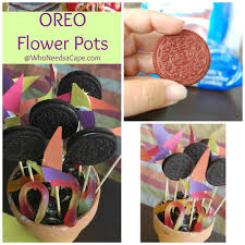 oreo flower pots who needs a cape