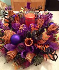 How To Make Halloween Wreaths by Happy Halloween Decomesh Centerpiece Visit Www Creative Twists