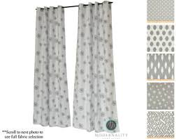 Gray Cafe Curtains Gray Curtains Etsy