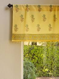 Yellow Valance Curtains Floral Yellow Valance Summer Valance Beach Window Valance