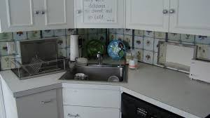 Kitchen Sink Backsplash Kitchen Inspiring White Hardwood Kitchen Cabinet Over Single