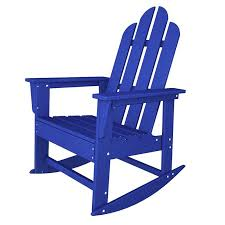 POLYWOOD Long Island Recycled Plastic Adirondack Rocking Chair - Outdoor furniture long island