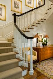Painted Banisters Stair Decor Staircase Traditional With Stained Treads Painted