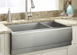 sink white apron sinks with stainless steel faucet for modern