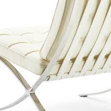 barcelona chair premium white barcelonachairshop en