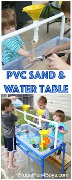 tall sand and water table how to make a pvc pipe sand and water table