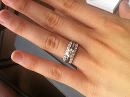 solitaire engagement ring with wedding band found on weddingbee your inspiration today rings and