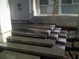 concrete steps in yard forming the floating concrete steps