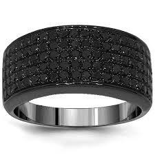 mens black diamond wedding band mens diamond wedding bands avianne co