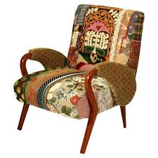 Chair Frames For Upholstery Arm Chair With Patchwork Upholstery And A Wood Frame Handcrafted
