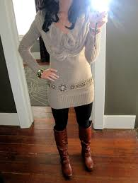 sweater dress with leggings and uggs