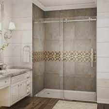 60 Shower Doors Sdr976 Moselle Completely Frameless Sliding Alcove Shower Door