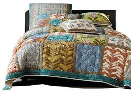 Summer Coverlet King Floral Summer Day Party Bedspread Set 3 Piece Eclectic Quilts