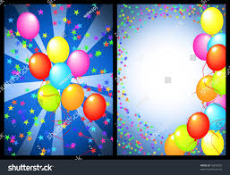 happy birthday greeting card balloon star stock illustration