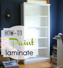How To Paint Wood Furniture by I Recently Shared My Newly Styled Bookshelves But Before I Added