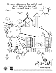 peg cat coloring pages eson me
