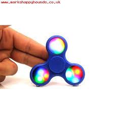 fidget spinner light up blue kids led light up galaxy fidget spinner stress toy for boredom