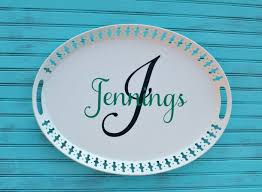 personalized serving plates craft diy personalized serving tray bradford