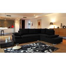 canapé déco idée déco salon avec un canape noir
