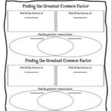 venn diagram gcf foldable greatest common factors venn diagrams