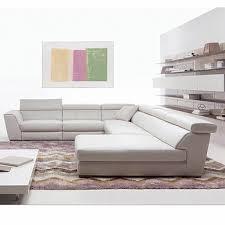 natuzzi canapé prix moderne noble design élégant de couleur blanche en cuir 6 places