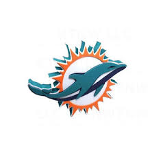 Brand New Nfl Miami Dolphins 3d Fan Foam Logo Wall Sign 847624021277