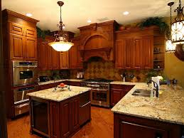 kitchen cabinets classic brown stained wooden kitchen cabinet