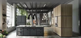 cabinets u0026 drawer industrial kitchen ideas concrete floors gray