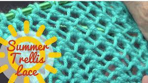 summer trellis lace stitch youtube