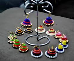 handmade paper earrings imprints handmade traditional jhumkis using paper quilling