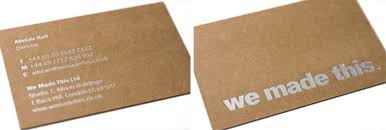 Recycle Paper Business Cards Kraft Paper Business Cards 14 Eye Catching Examples Desgr Com