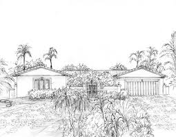 Residential Ink Home Design Drafting by Hand Drawn House Portrait Your Home Or Business In Ink