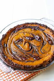 Gingersnap Pumpkin Cheesecake by Nutella Swirled Pumpkin Pie Sallys Baking Addiction